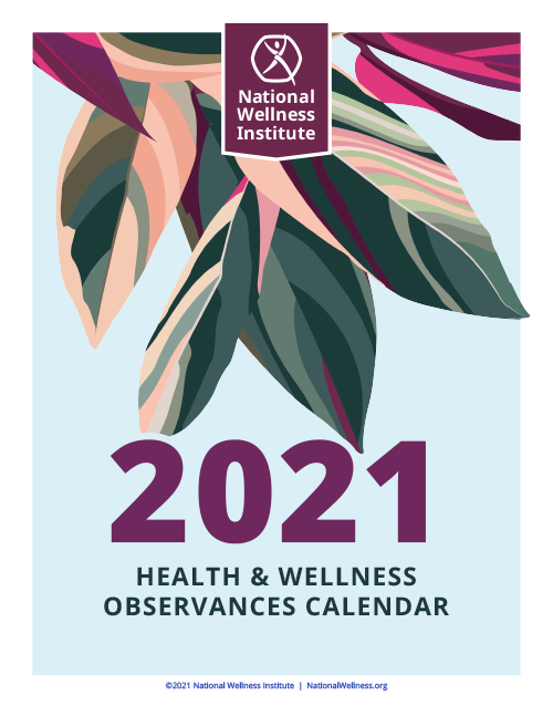 2021 Health and Wellness Observances Calendar